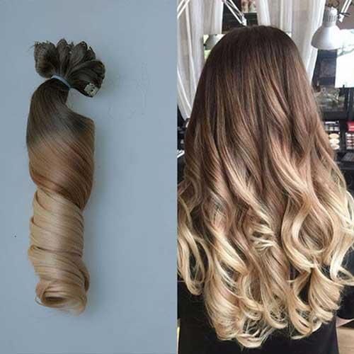 cabelo ombre hair loiro ondulado