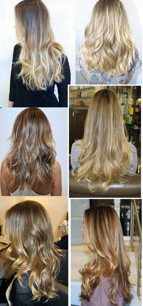 cabelos em diferentes tons de loiro