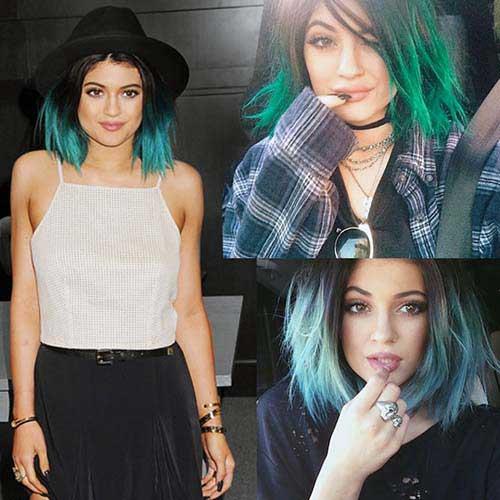 cabelos verdes e azuis