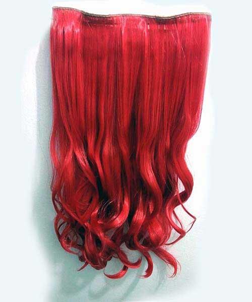 cabelo vermelho fantasia de aplique