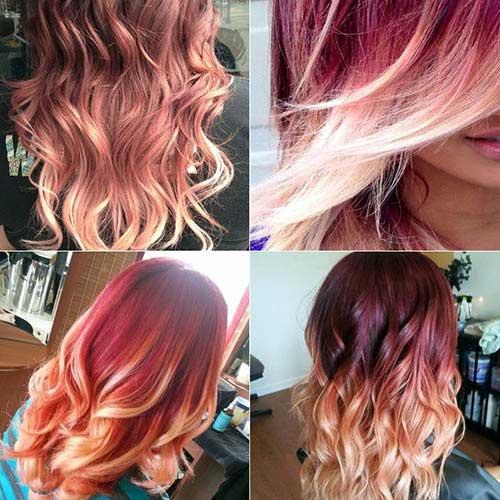 cabelos vermelhos escuros iluminados