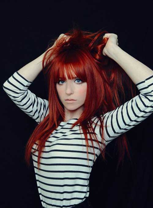 cabelos vermelhos fortes