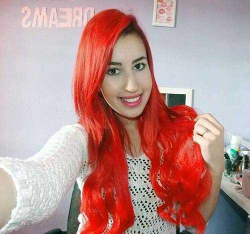 cabelos vermelhos de aplique