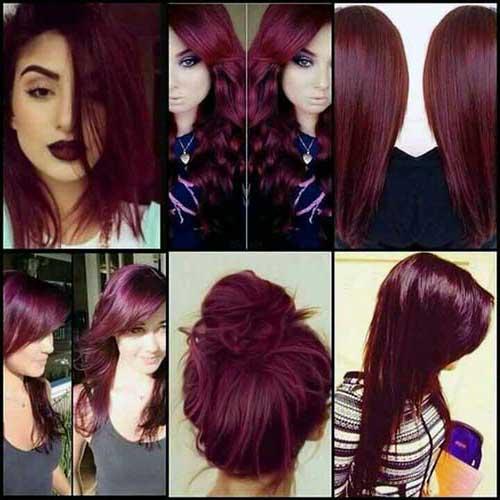 cabelo avermelhado vinho