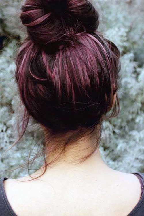 cabelos cor de uva