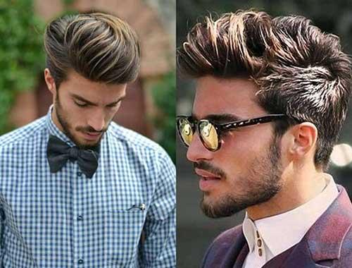 cabelo masculino medio com mechas californianas
