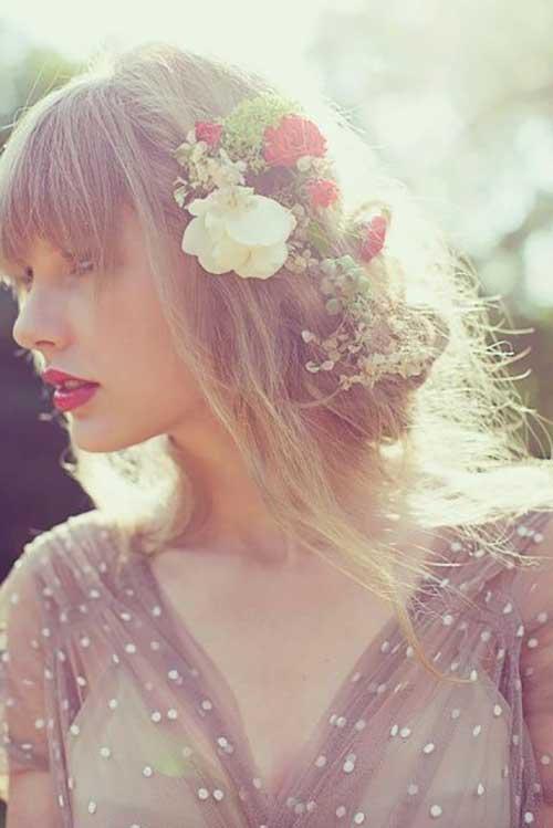 cabelos de taylor floridos
