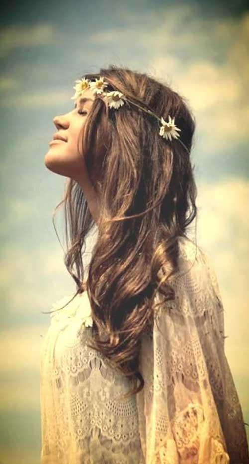 hippies adoram tiara de florzinha
