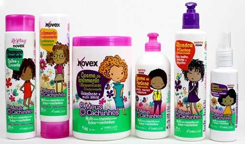 linha de produtos para cachos de criança