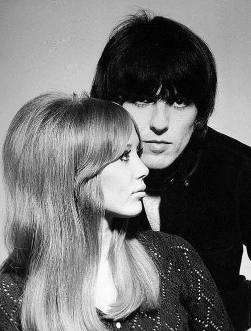 cabelos masculinos e femininos anos 60