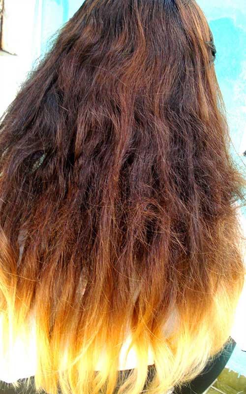 cabelo feio com luzes