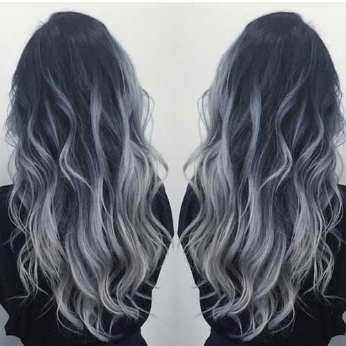 cabelo platinado escuro com californiana