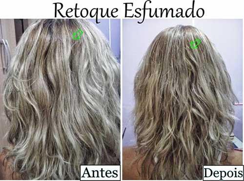 como fazer retoque esfumado na raiz de cabelos platinados