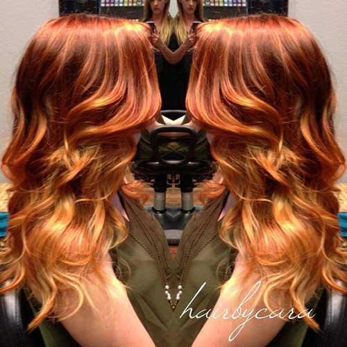 cabelos ruivos compridos