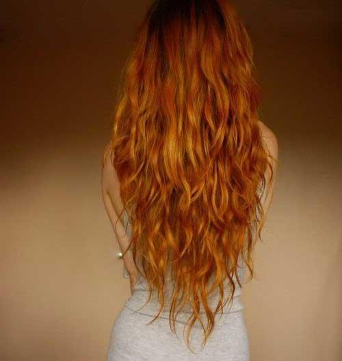 cabelo ruivo com ondas