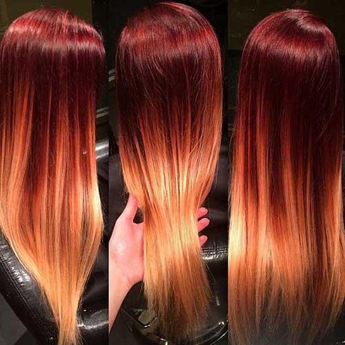 cabelo vermelho e amarelo