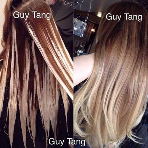 como fazer balaiagem no cabelo preto tingido