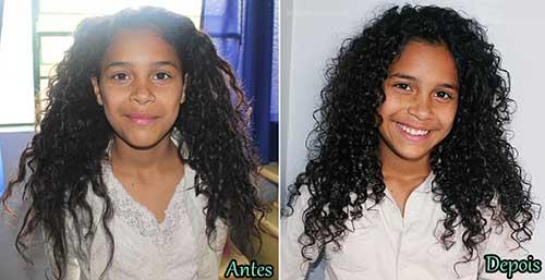 resultado nos cabelos infantis de fitagem