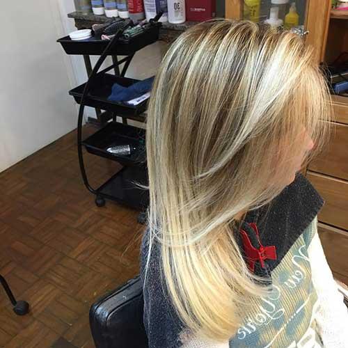 balaiagem loira em cabelo loiro