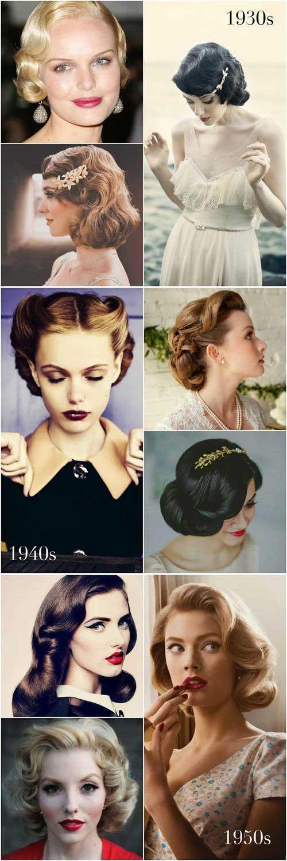 imagens de tutorial para cabelo vintage