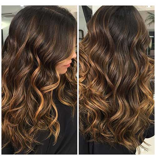 brown hair with ombre highlights balayage selber machen und 54 trend looks frisurentrends red. Black Bedroom Furniture Sets. Home Design Ideas
