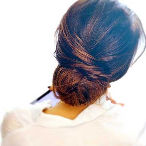 coque baixo pra madrinha cabeluda