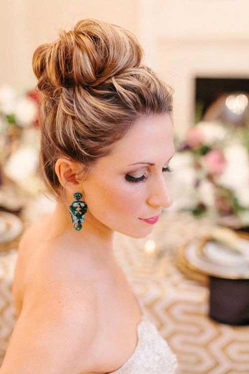 penteado tipo coque bola despojado pra dama de casamento