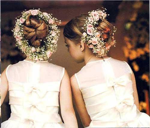 coque ornamentado com flores pra daminha