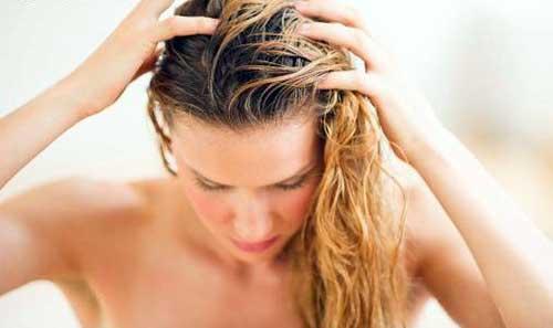 couro cabeludo oleoso em cabelo feminino