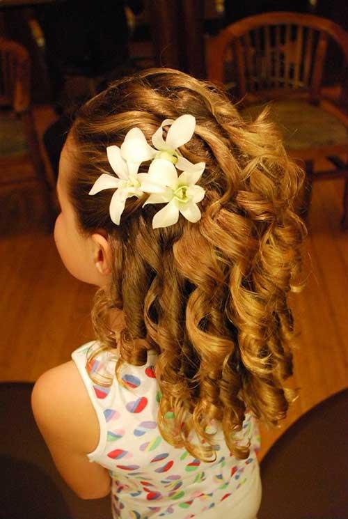 penteados para daminhas de honra de casamento