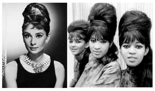penteados tipo coque dos anos 60