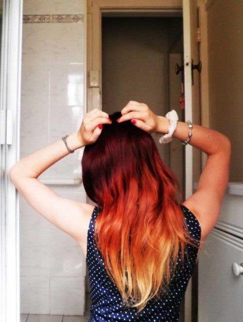cabelos com ombre hair de fogo