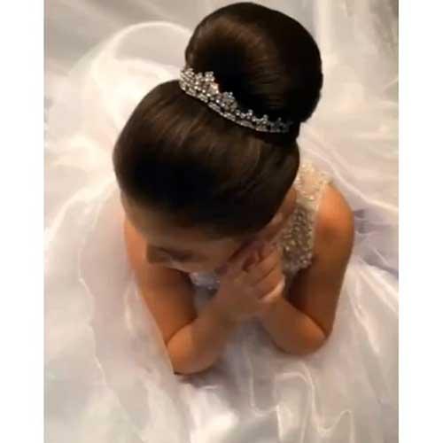 cabelo para daminha de casamento