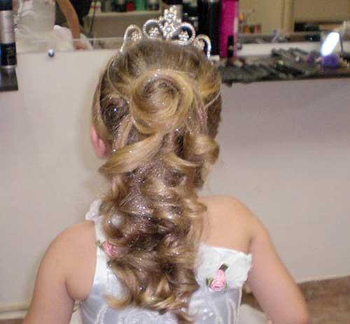 penteado infantil de princesa