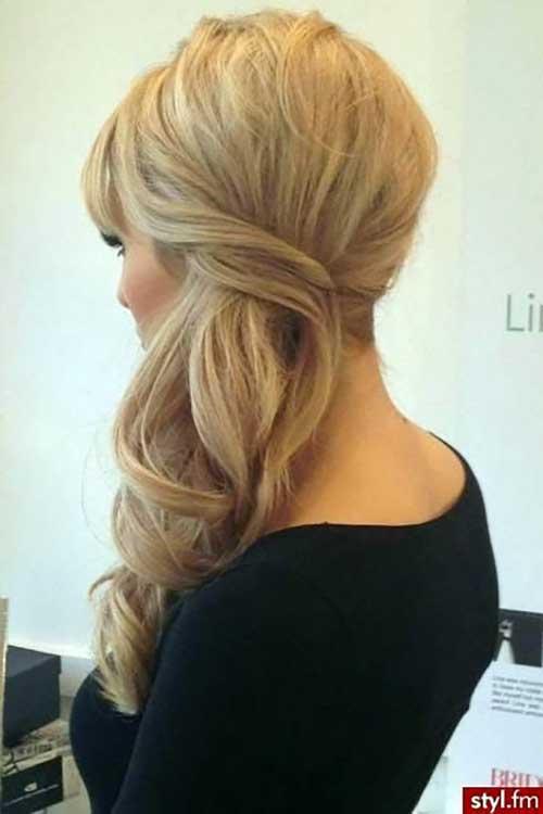 penteado lateral com texturas