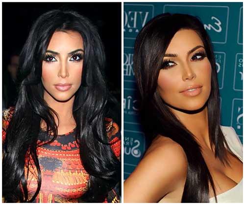 kim kardashian com cabelo preto