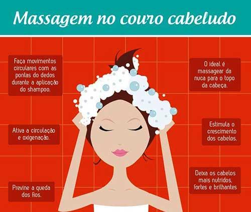massagem caseira que evita dor no couro cabeludo