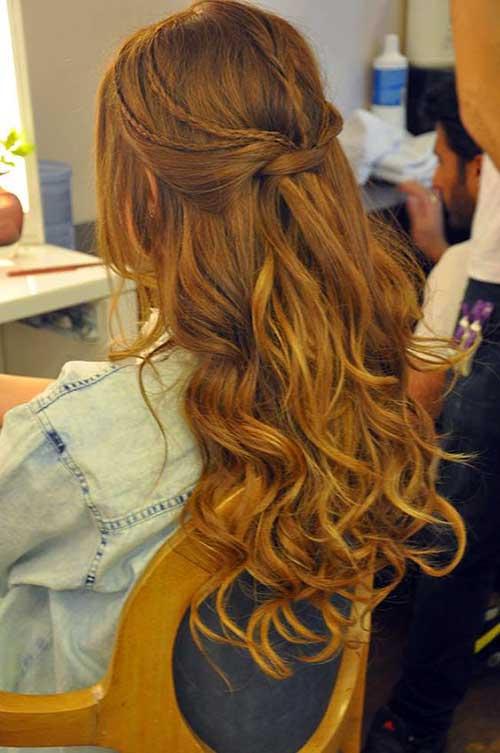 cabelo semi preso com tranças