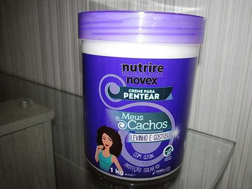 produto para cabelo cacheado novex