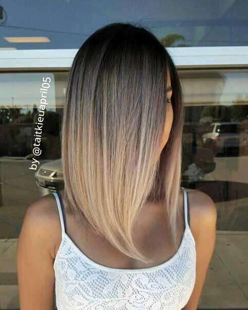 cabelo medio com ombre de morena