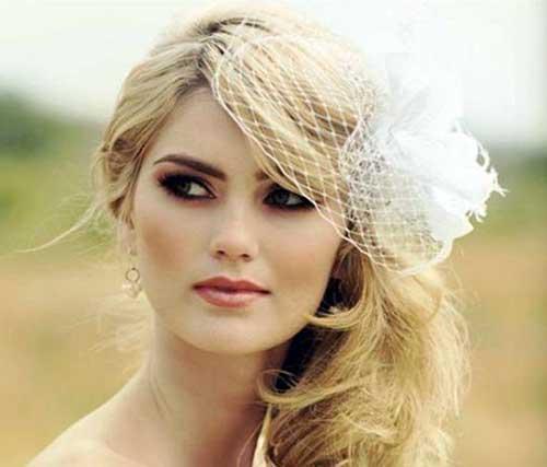 penteados bonitos pra noiva de casquete