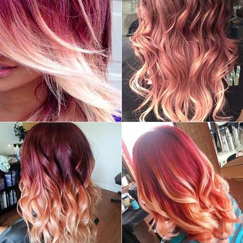 balayage em cabelo tingido