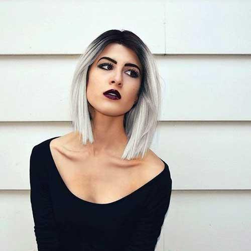 ombre hair em morena de cabelo curto