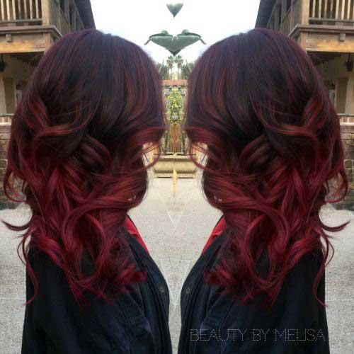 ombre hair avermelhado especial