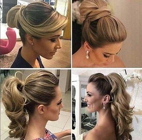 fotos e imagens de penteado para madrinha de casamento com madeixa longa