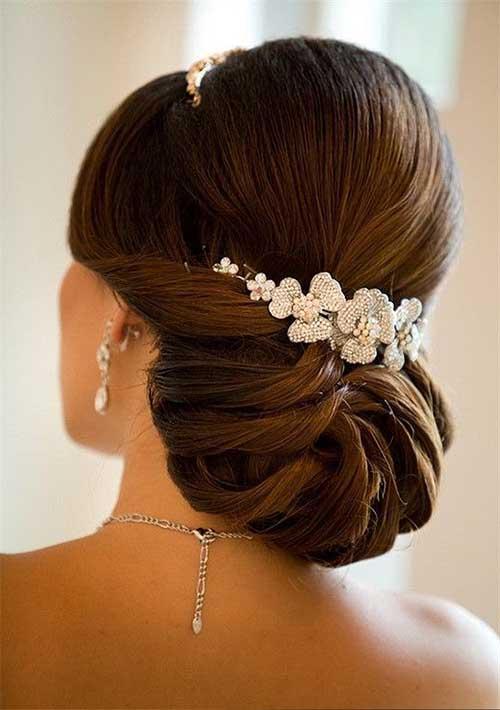cabelos presos de noiva