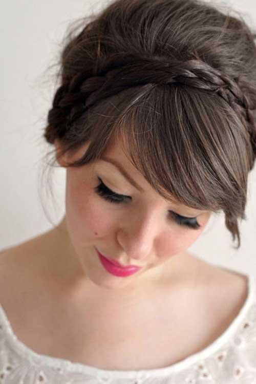 penteado preso tipo tiara de trança