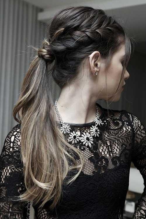 ponytail com tranças bonitas