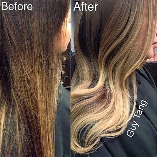antes e depois em cabelos de morena