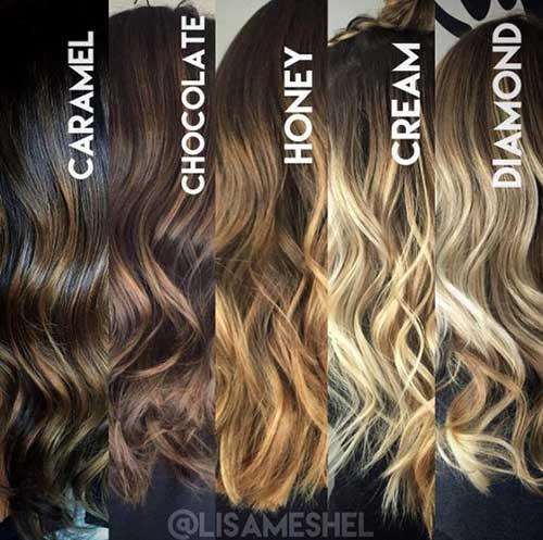 balaiagem no cabelo com cores lindas